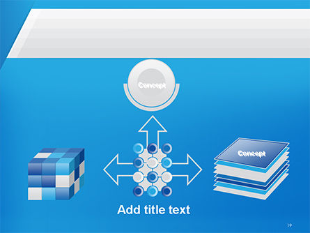 Simple Blue and White PowerPoint Template Slide 19