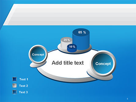 Simple Blue and White PowerPoint Template Slide 6