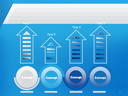Simple Blue and White PowerPoint Template Slide 7