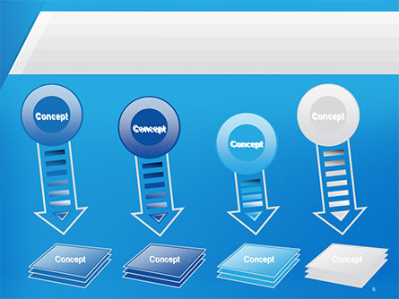 Simple Blue and White PowerPoint Template Slide 8