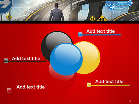The Businessman Facing Different Roads PowerPoint Template Slide 10