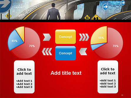 The Businessman Facing Different Roads PowerPoint Template Slide 11