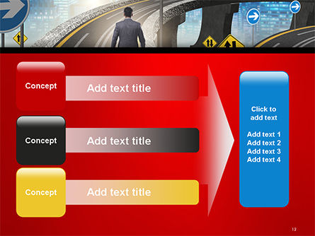 The Businessman Facing Different Roads PowerPoint Template Slide 12