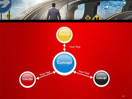 The Businessman Facing Different Roads PowerPoint Template Slide 14