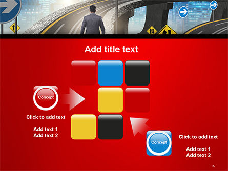 The Businessman Facing Different Roads PowerPoint Template Slide 16
