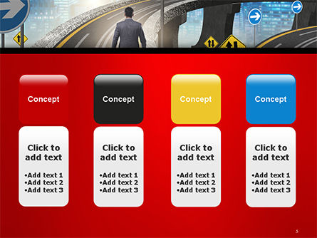 The Businessman Facing Different Roads PowerPoint Template Slide 5