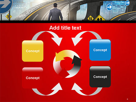 The Businessman Facing Different Roads PowerPoint Template Slide 6