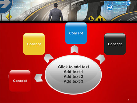 The Businessman Facing Different Roads PowerPoint Template Slide 7