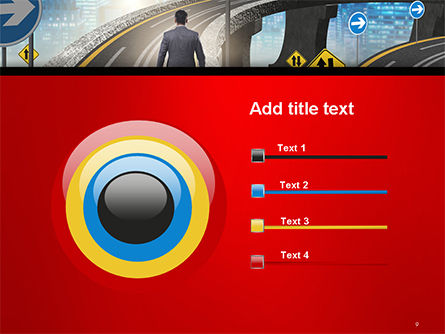 The Businessman Facing Different Roads PowerPoint Template Slide 9