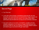 The Businessman Facing Different Roads PowerPoint Template#2
