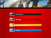 The Businessman Facing Different Roads PowerPoint Template#3