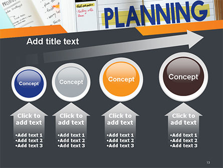 Planning Concept PowerPoint Template Slide 13