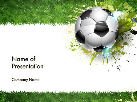 Splash Football Background PowerPoint Template, 14706, Sports — PoweredTemplate.com