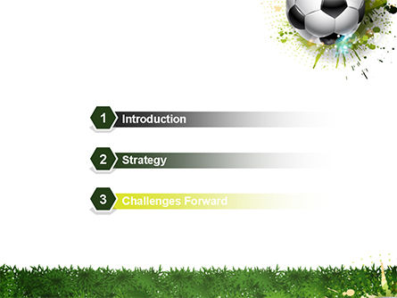 Splash Football Background PowerPoint Template, Slide 3, 14706, Sports — PoweredTemplate.com