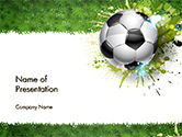 Sports: Splash Football Background PowerPoint Template #14706