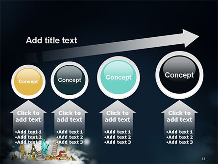 Cloud Full of Famous Monuments PowerPoint Template Slide 13