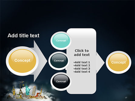 Cloud Full of Famous Monuments PowerPoint Template Slide 17