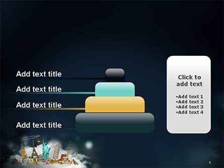 Cloud Full of Famous Monuments PowerPoint Template Slide 8
