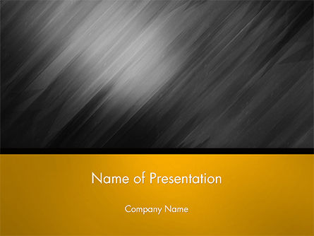 3D: Gray Diagonal Pattern PowerPoint Template #14708