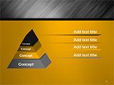 Gray Diagonal Pattern PowerPoint Template#10