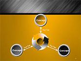 Gray Diagonal Pattern PowerPoint Template#12