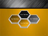 Gray Diagonal Pattern PowerPoint Template#5