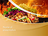 Food & Beverage: Testy kebab PowerPoint Vorlage #14710