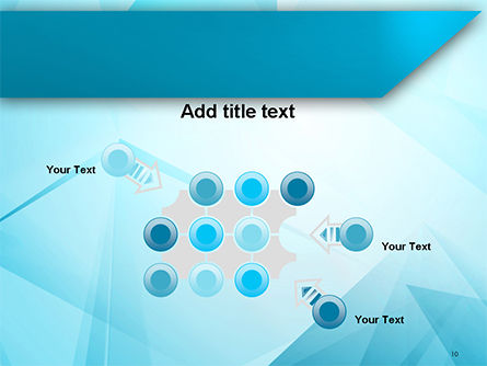 Transparent Blue Triangles PowerPoint Template Slide 10
