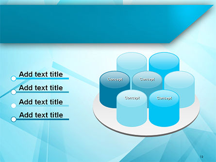Transparent Blue Triangles PowerPoint Template Slide 12