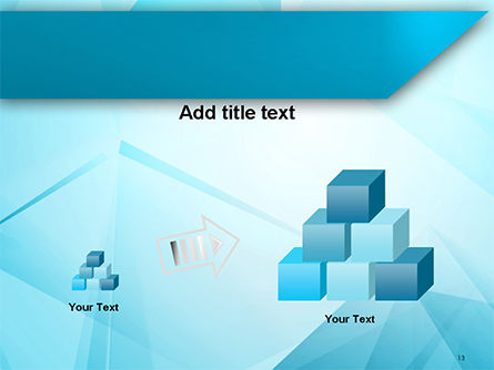 Transparent Blue Triangles PowerPoint Template Slide 13