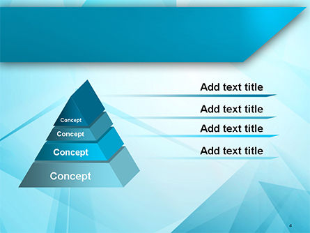 Transparent Blue Triangles PowerPoint Template, Slide 4, 14711, Abstract/Textures — PoweredTemplate.com