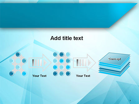 Transparent Blue Triangles PowerPoint Template Slide 9