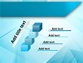 Transparent Blue Triangles PowerPoint Template#14