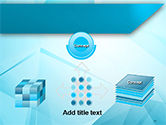 Transparent Blue Triangles PowerPoint Template#19