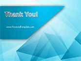Transparent Blue Triangles PowerPoint Template#20