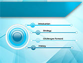 Transparent Blue Triangles PowerPoint Template#3