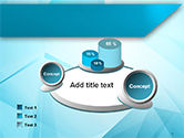 Transparent Blue Triangles PowerPoint Template#6