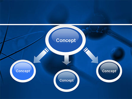 Molecular Lattice In Dark Blue Colors PowerPoint Template, Slide 4, 14712, 3D — PoweredTemplate.com