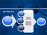 Molecular Lattice In Dark Blue Colors PowerPoint Template#17