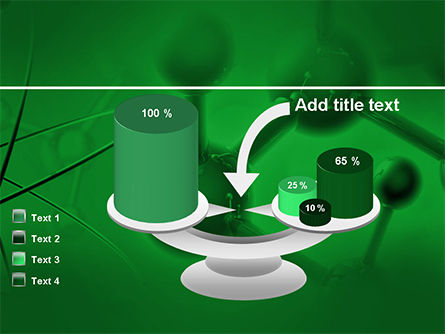 Molecular Lattice In Dark Green Colors PowerPoint Template Slide 10