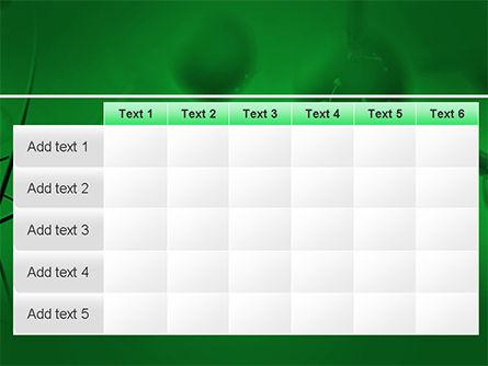 Molecular Lattice In Dark Green Colors PowerPoint Template Slide 15