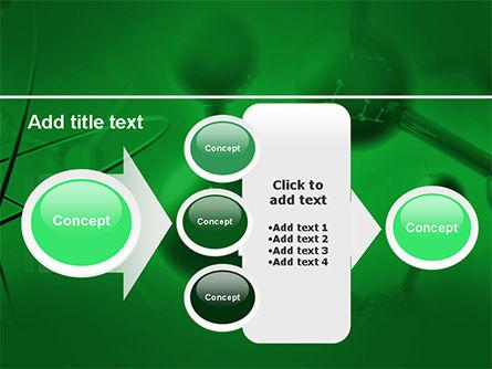 Molecular Lattice In Dark Green Colors PowerPoint Template Slide 17