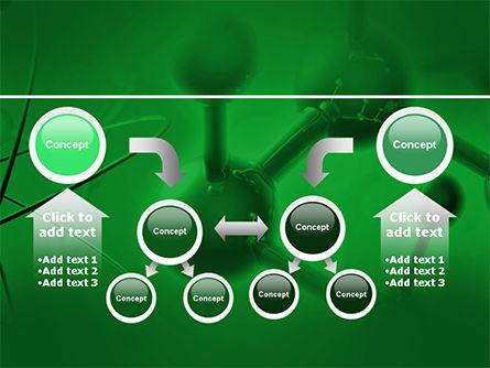 Molecular Lattice In Dark Green Colors PowerPoint Template Slide 19
