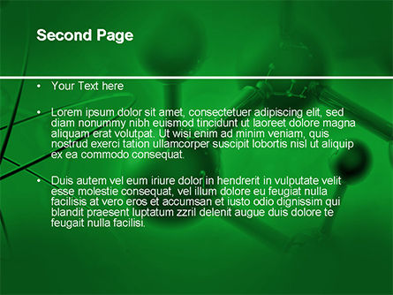 Molecular Lattice In Dark Green Colors PowerPoint Template, Slide 2, 14713, 3D — PoweredTemplate.com