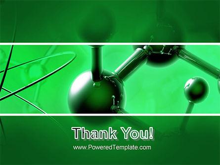 Molecular Lattice In Dark Green Colors PowerPoint Template Slide 20