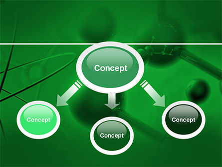 Molecular Lattice In Dark Green Colors PowerPoint Template, Slide 4, 14713, 3D — PoweredTemplate.com