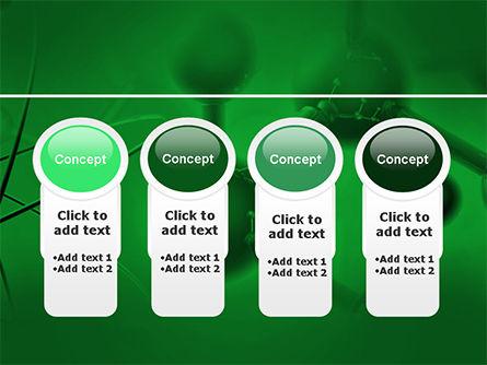 Molecular Lattice In Dark Green Colors PowerPoint Template Slide 5