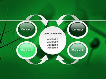 Molecular Lattice In Dark Green Colors PowerPoint Template Slide 6