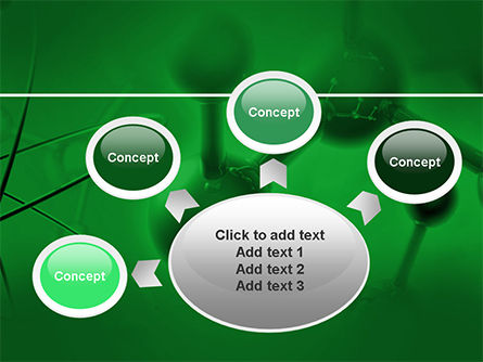 Molecular Lattice In Dark Green Colors PowerPoint Template Slide 7