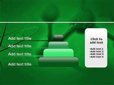 Molecular Lattice In Dark Green Colors PowerPoint Template Slide 8